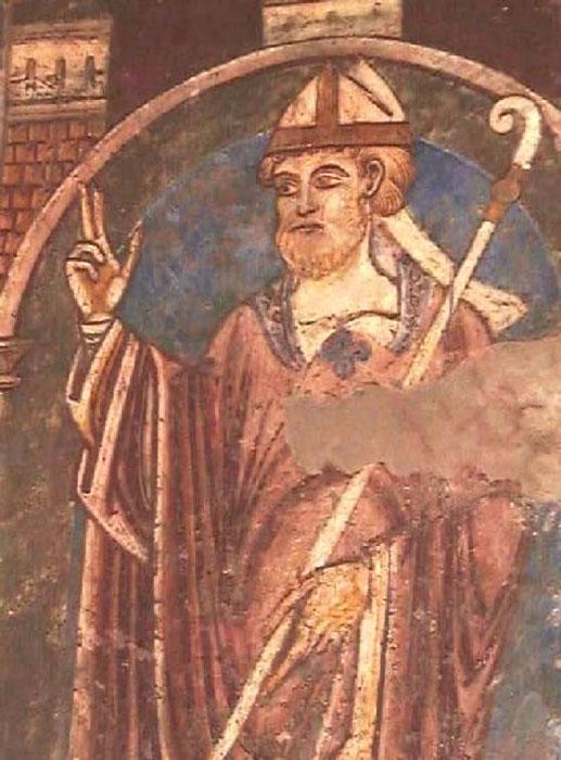 Fresco de San Cutberto, Catedral de Durham (Dominio público)