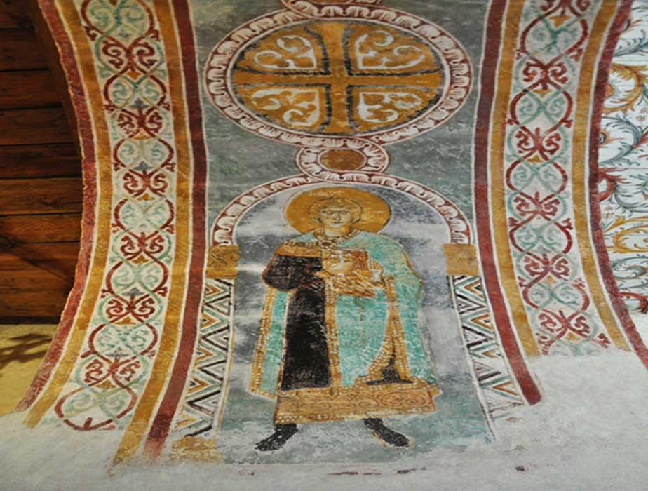 Detalle de uno de los frescos de la iglesia de Gärde (Helen Simonsson/CC BY-SA 2.0)