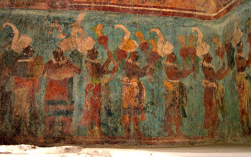 Frescos de la Estructura 1 de Bonampak. (© 2004 Jacob Rus/CC BY-SA 2.0)