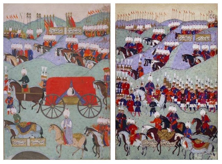 Funeral del sultán otomano Solimán el Magnífico (Public Domain)