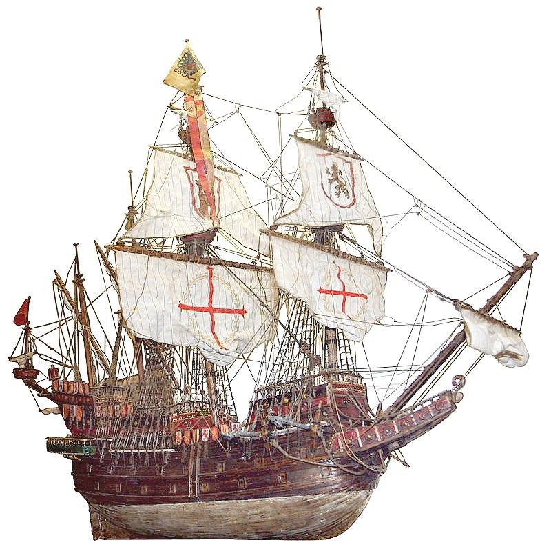 Galeón español, maqueta de madera del Museo de Historia Naval de Venecia. (Thyes/CC BY-SA 3.0)