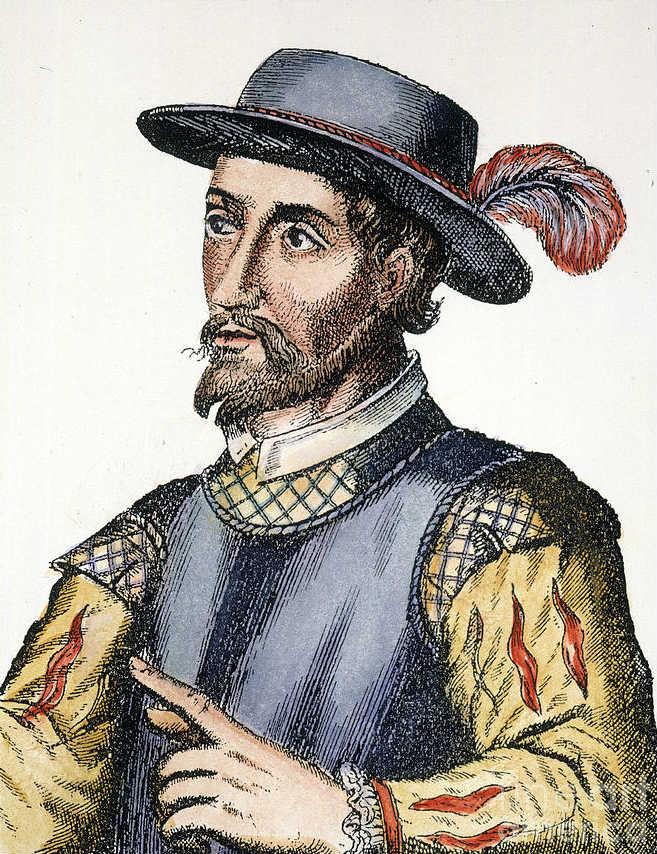 Retrato de Ponce de León en un grabado español del siglo XVII (Public Domain)
