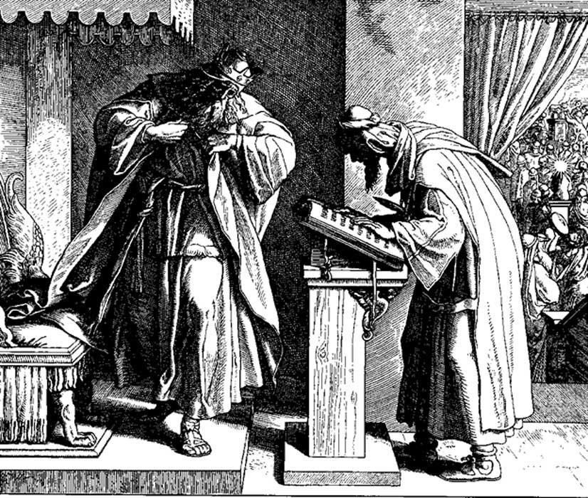 El rey Josías, grabado de Julius Schnorr von Carolsfeld. (Dominio público)