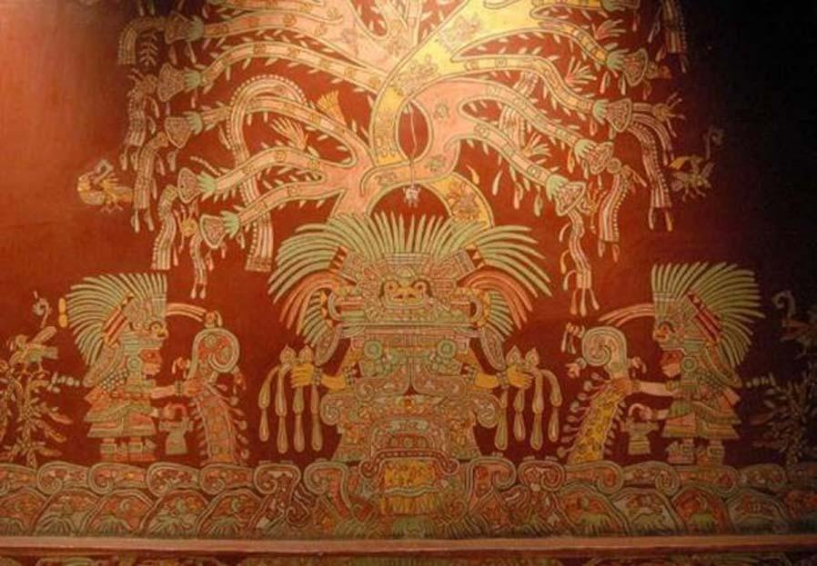 En este mural podemos observar a la que ha sido identificada como Gran Diosa de Teotihuacán. (CC BY 2.0)