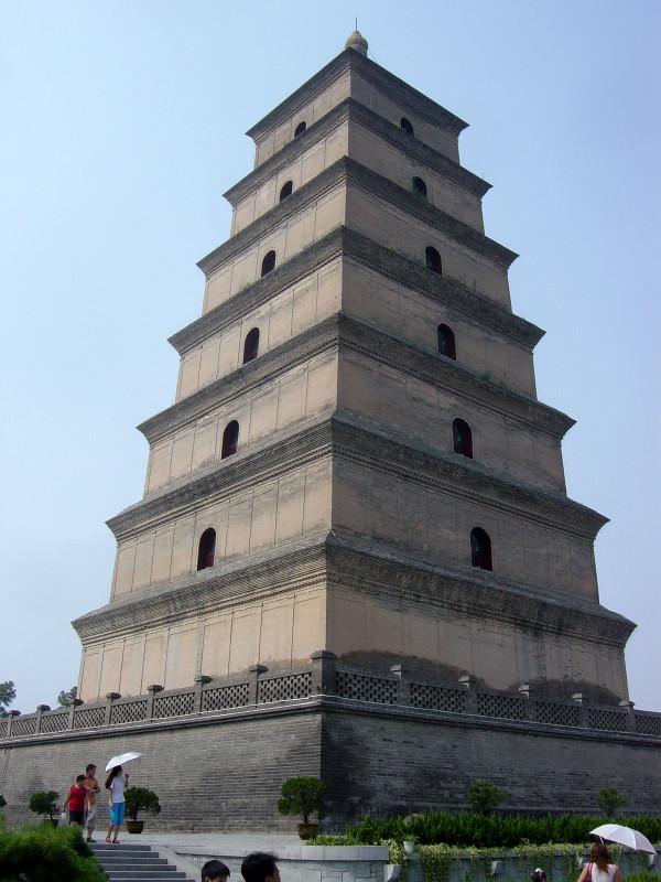 Gran Pagoda del Ganso Salvaje, Xi'an, China. Antigua pagoda budista construida en el año 652 y reconstruida en el 704 bajo el reinado de la emperatriz Wu Zetian (Bobak/CC BY 2.5)