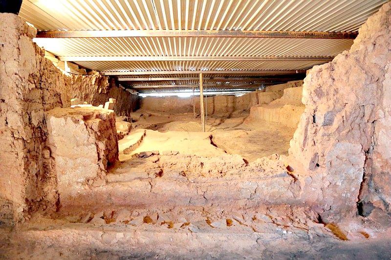 La estancia principal, de 70 metros cuadrados, cuyo uso estaba claramente vinculado al culto según los investigadores. (Fotografía: El País/Carlos Martínez)