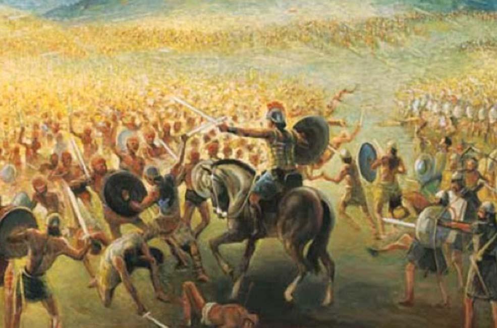Los nefitas y los lamanitas se hacían la guerra con frecuencia. (Nephicode.com)