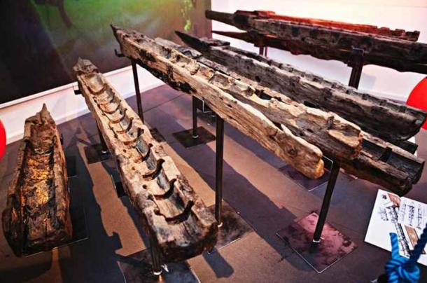 Soportes para cañones pertenecientes al Gribshunden expuestos en el Museo de Blekinge (Foto: Mattias Mattison)
