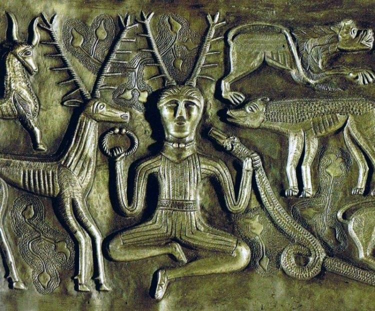 Cernunnos rodeado de animales, detalle del caldero de Gundestrup. (Public Domain)