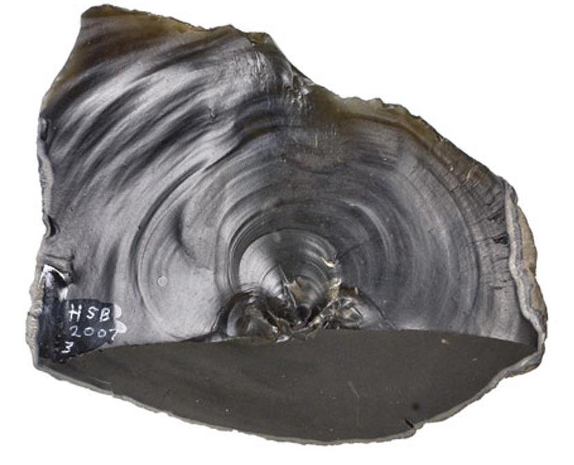 """Esta hacha de mano procedente de Happisburg, Norfolk, demuestra que las islas británicas estaban ya habitadas hace un millón de años, mucho antes de lo que se creía hasta ahora. Esta herramienta se mostrará al público en la exposición del Museo de Jersey """"La Isla de la Edad del Hielo"""". (Ice Age Island photo)"""