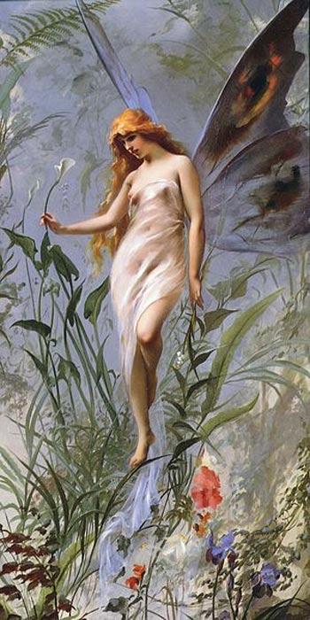 'Lily Fairy' ('El hada del lirio'), óleo de Luis Ricardo Falero (1888). (Public Domain)