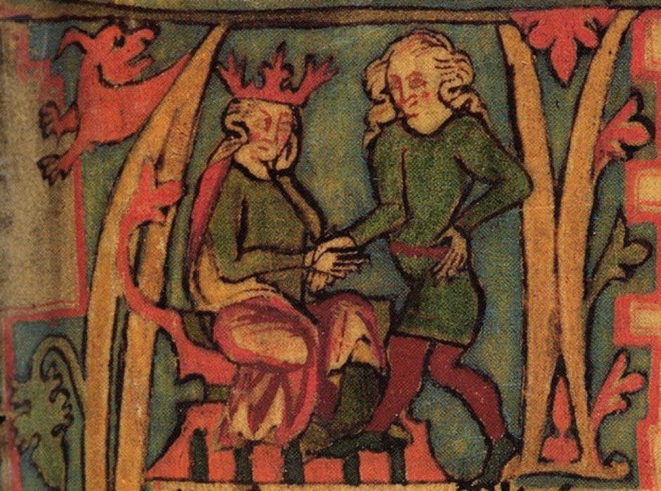 Harald el de los Hermosos Cabellos, ilustración del Flateyjarbók, manuscrito medieval del siglo XIV. (Public Domain)