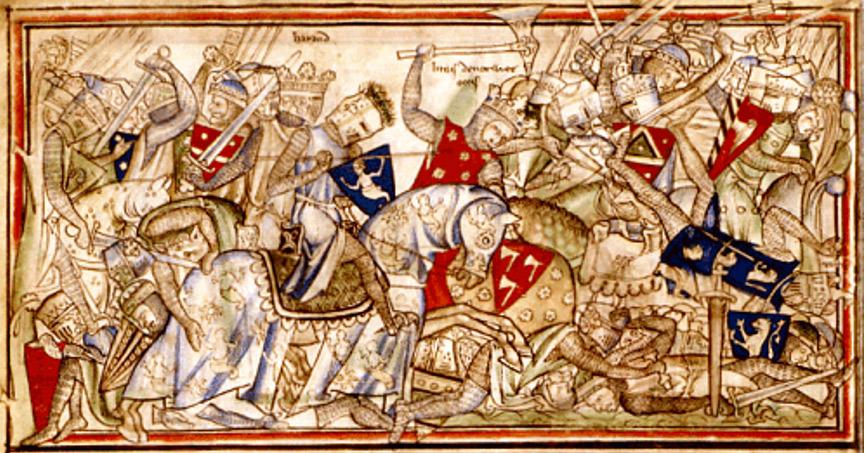 Harald en la batalla de Stamford Bridge. (Public Domain)