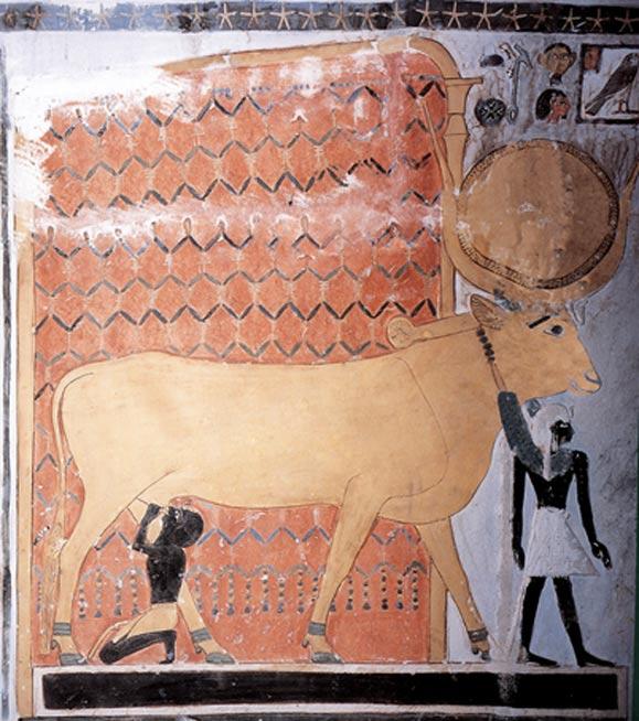 La diosa Hathor amamantando al faraón. (CC BY NC SA 2.0)