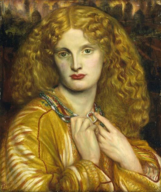 Helena de Troya, óleo de Dante Gabriel Rossetti. (CC BY-NC-SA 3.0)
