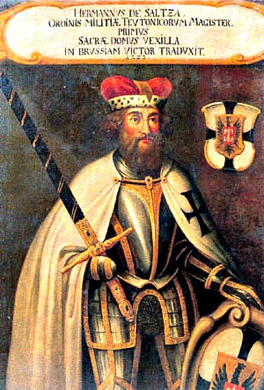 Retrato anónimo de Hermann von Salza, cuarto Gran Maestre de los Caballeros Teutónicos entre 1209 y 1239. (Public Domain)