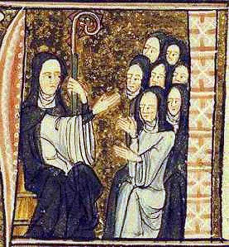 Hildegarda de Bingen y sus monjas. (Dominio público)