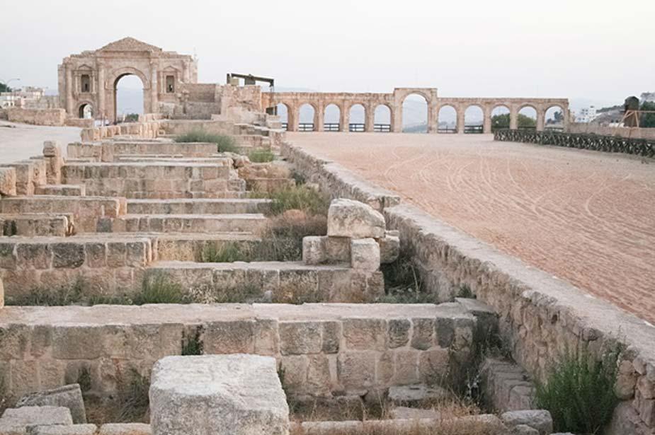 El hipódromo romano de Jerash, Jordania. (CC BY-SA 3.0)