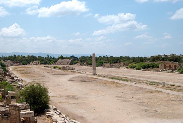 Ruinas de un hipódromo romano de Tiro, Líbano. (Peripitus/CC BY SA 3.0)