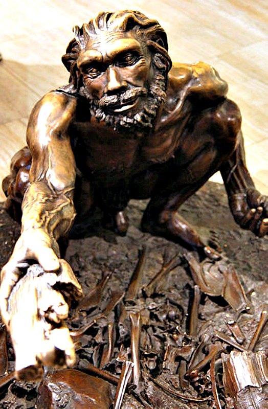 Reproducción en bronce de un Homo heidelbergensis (vivió hace 600.000 – 400.000 años). Museo de Historia Natural de Washington, Estados Unidos. (Tim Evanson/CC BY-SA 2.0)