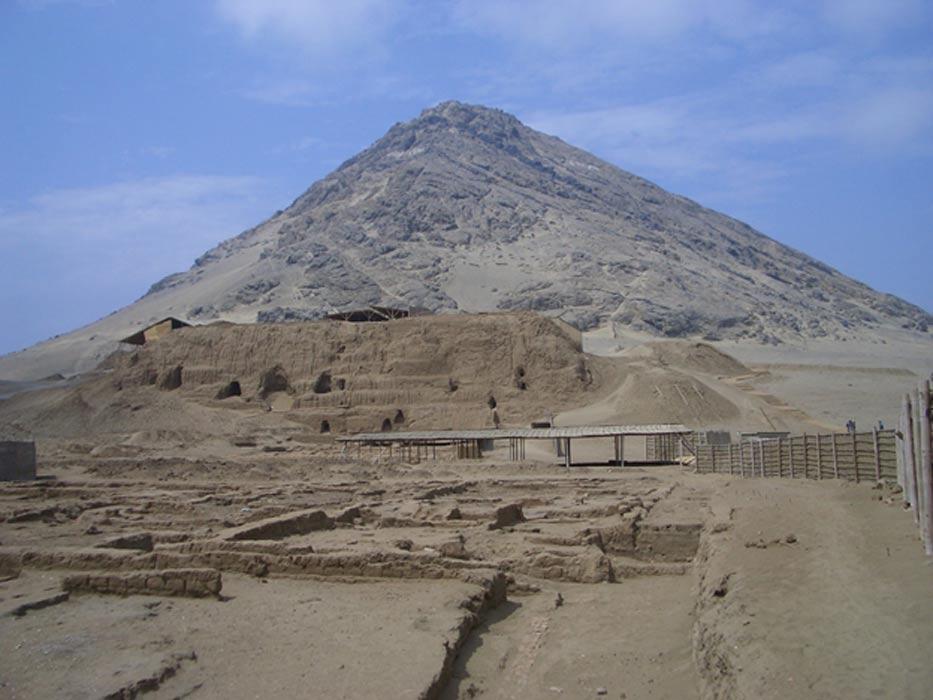 Panorámica de la Huaca de la Luna. (Public Domain)