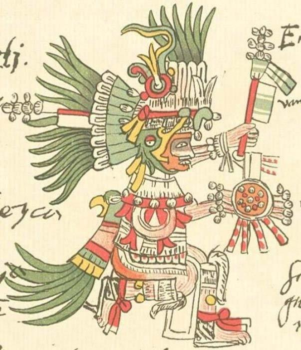 Ilustración de Huitzilopochtli en el Códice Telleriano-Remensis (Dominio público)