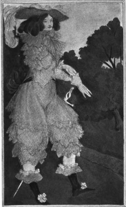 Ilustración de Mademoiselle de Maupin obra de Aubrey Beardsley (1898), extraída de su serie de dibujos 'Six Drawings Illustrating Theophile Gautier's Romance Mademoiselle de Maupin'. (Public Domain)