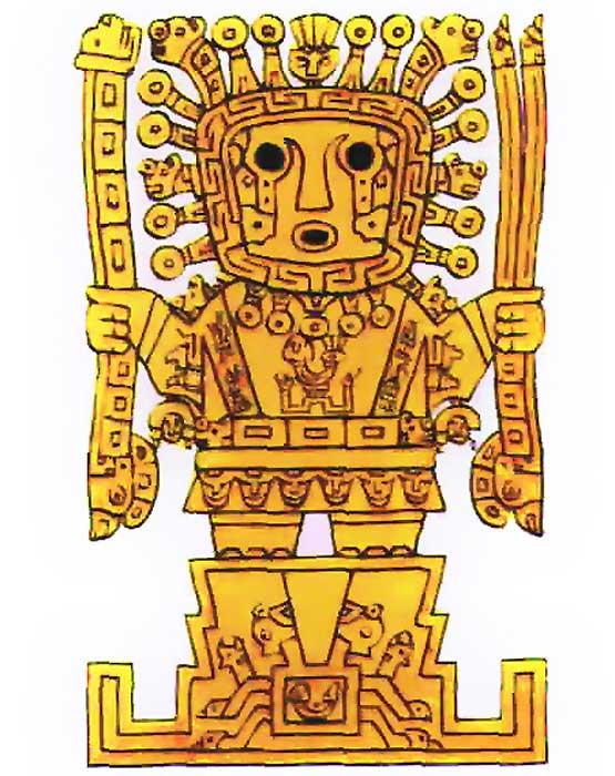 Imagen de Inti, dios del Sol e hijo de Viracocha en la mitología inca. (Public Domain)