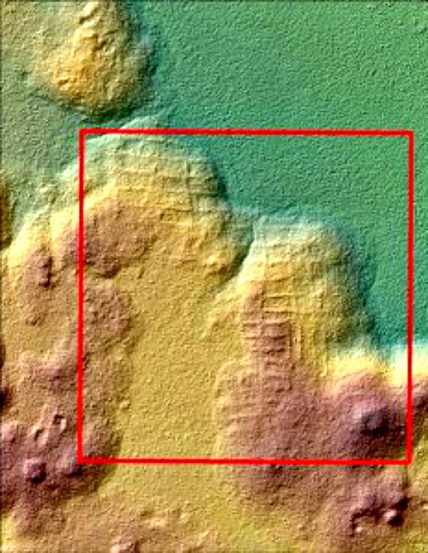 Fotografía de El Mirador, imagen obtenida mediante el novedoso sistema de escaneado LIDAR. (EFE / Proyecto Arqueológico Cuenca Mirador)