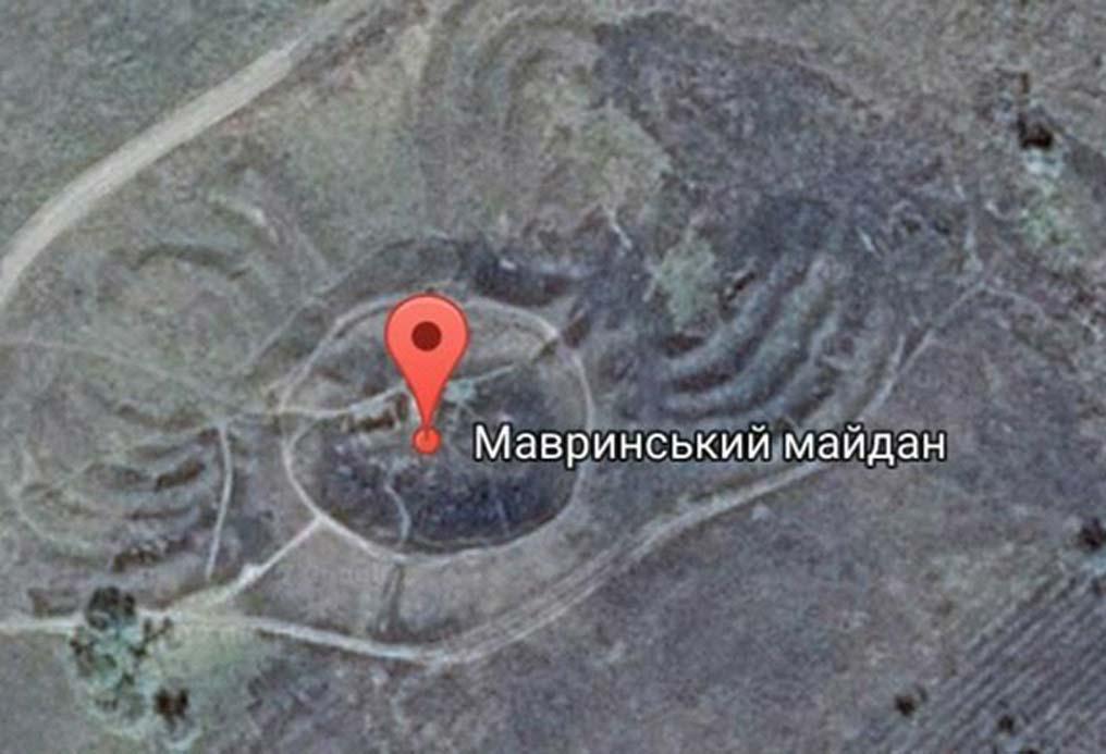Imagen de satélite de Plaza Mauricio, Ucrania. (Imagen aportada por el autor)