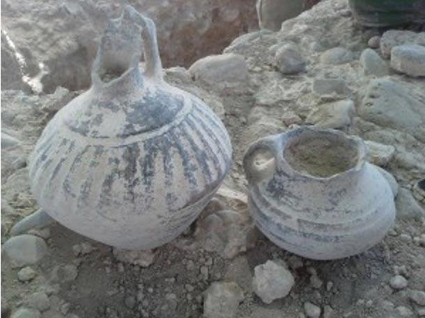 Vasijas Urartianas procedentes de la necrópolis de Karmir Blur, en Armenia (Armen Martirosian)