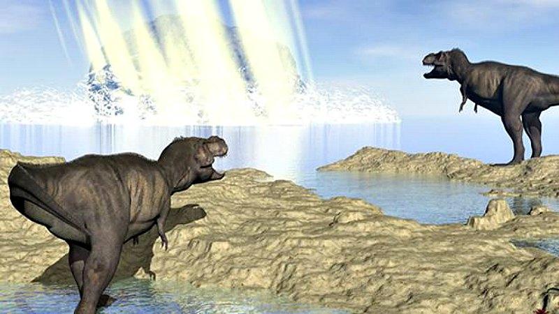 Recreación del impacto del gran asteroide que acabó con los dinosaurios (ABC/Universidad de Tohoku)