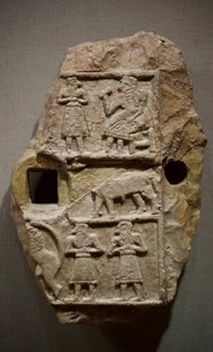 Inanna templo de alivio. (Dominio publico)