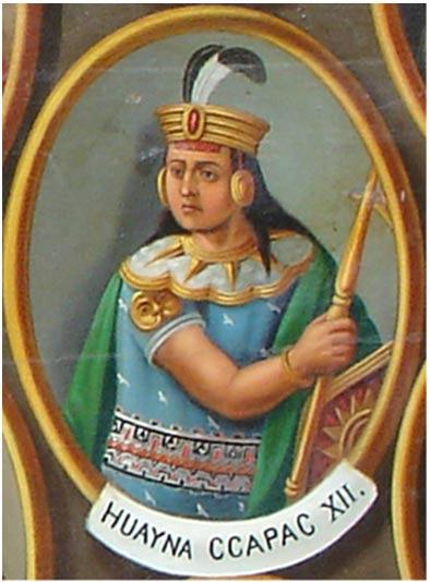 Ilustración del emperador Inca Huayna Capac.