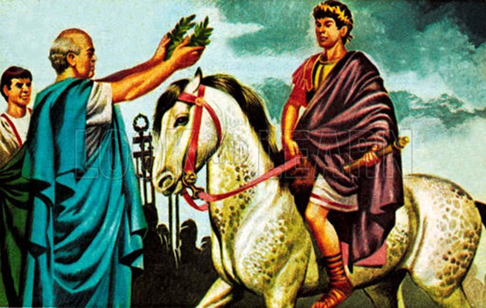Imaginativa ilustración de Calígula nombrando cónsul a Incitatus. (Imgur)
