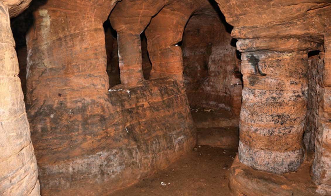 Fotografía del interior de las cuevas de Caynton. (UK Urban Exploration)