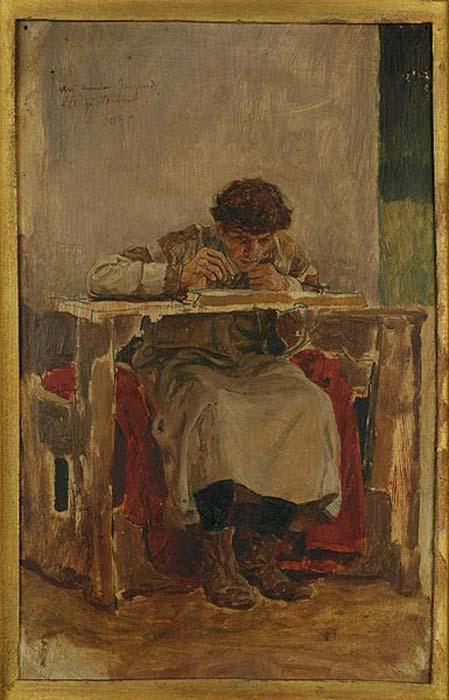 Irnerio (c. 1050 – después del 1125), jurista italiano y fundador de la Escuela de los Glosadores de Bolonia y de la tradición del Derecho Romano Medieval. (Dominio público)
