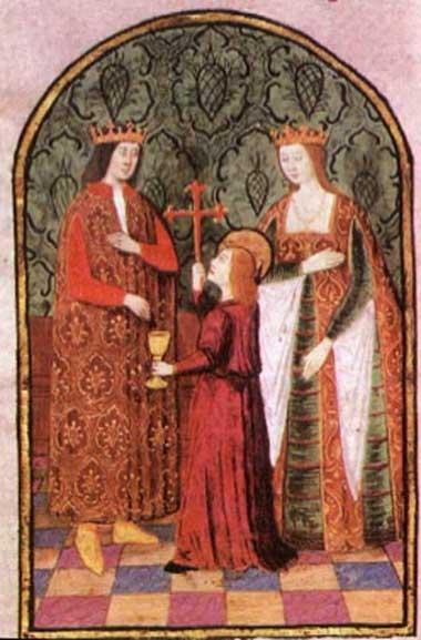 Isabel I de Castilla, reina de Castilla y León, junto a su esposo Fernando II de Aragón. (Dominio público)