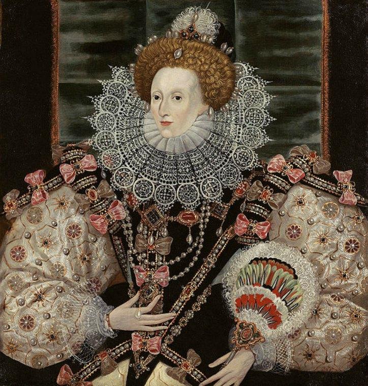 Retrato de la reina Isabel I de Inglaterra (1600). Óleo copia de un cuadro original de George Gower (1540-1596). Expuesto en la New Gallery de Londres. (Public Domain)