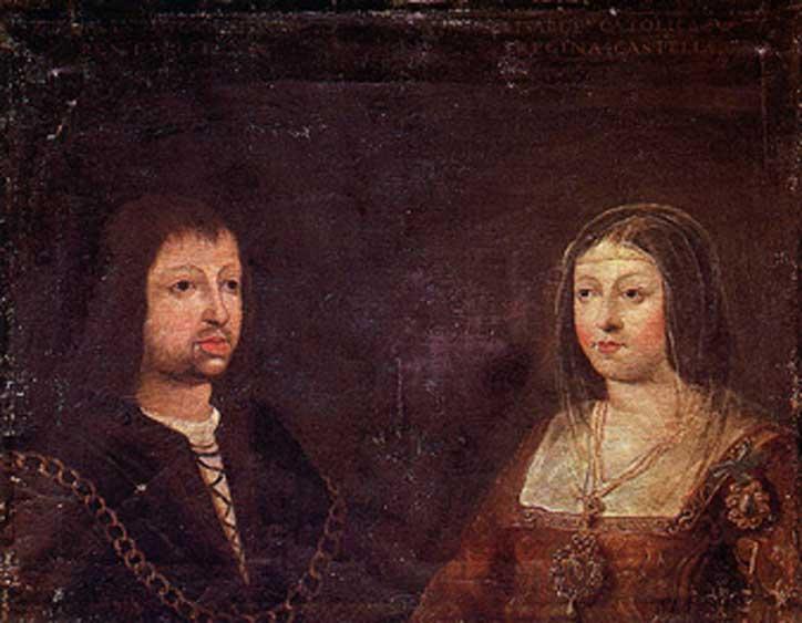 Retrato de boda de Fernando e Isabel, c. 1469. (Dominio público)