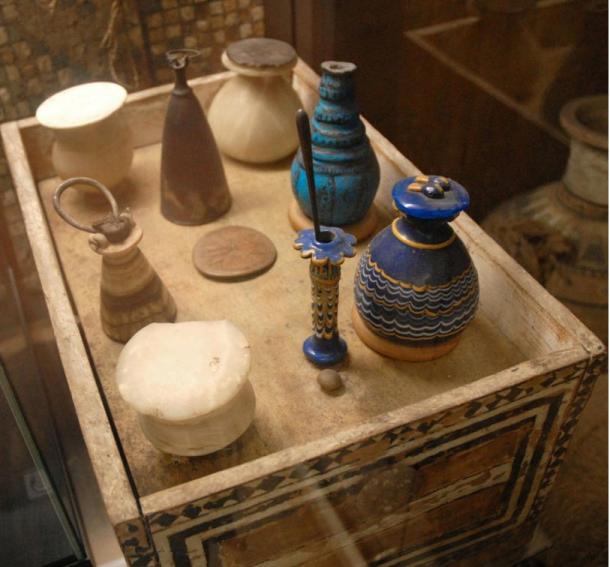 Objetos procedentes de la tumba de Kha y Merit:(Foto: Jean-Pierre Dalbera/Wikimedia Commons)