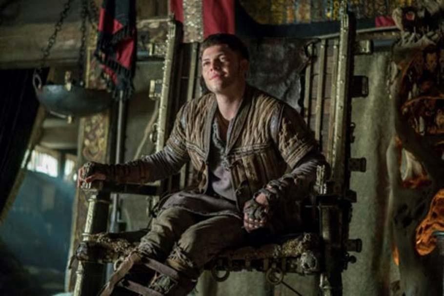 Ivar sin Huesos tal y como aparece caracterizado en la serie 'Vikingos' del Canal Historia. (Canal Historia)