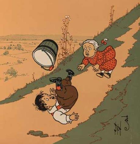 Jack y Jill, Denslow (1902) (Wikimedia Commons)