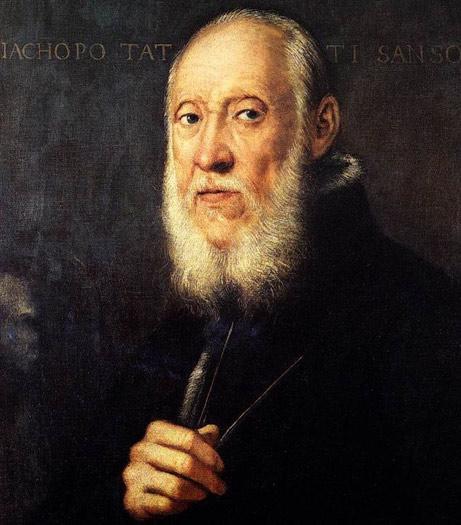 Retrato de Jacopo Sansovino, arquitecto de la famosa Biblioteca Nazionale Marciana de Venecia. Autor: Tintoretto 1560-1570. Expuesto actualmente en la Galería Uffizi. (Wikimedia Commons)