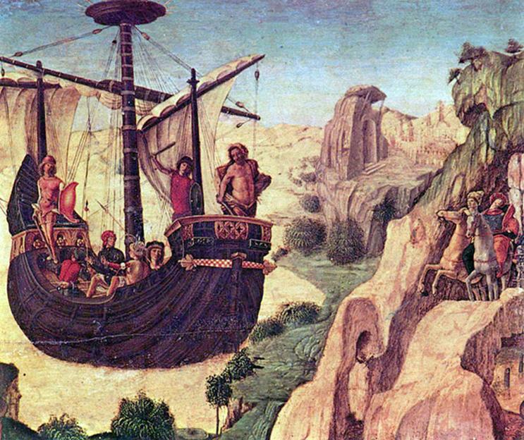'Jasón y los Argonautas', óleo sobre panel de Lorenzo Costa (CC BY SA 3.0)