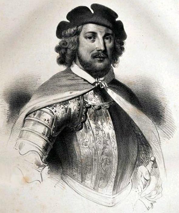 Retrato de Jean de Béthencourt realizado en 1833 por Jacques François Gaudérique Llanta (1807-1864). (Public Domain)