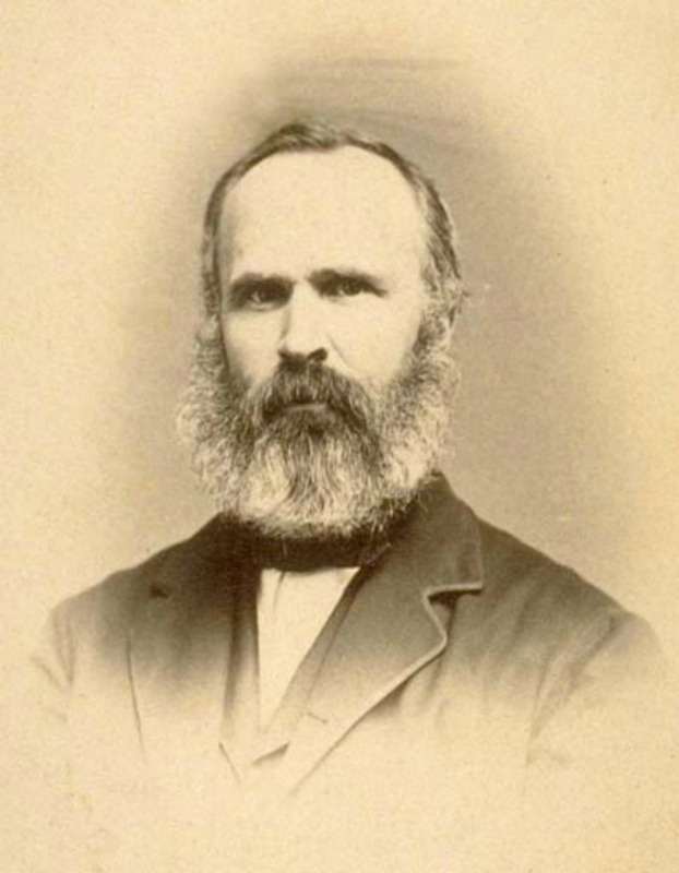 Josiah Whitney, geólogo estadounidense, profesor de geología en la Universidad de Harvard (desde 1865) y director del Servicio Geológico de California (1860–1874). (Dominio público)