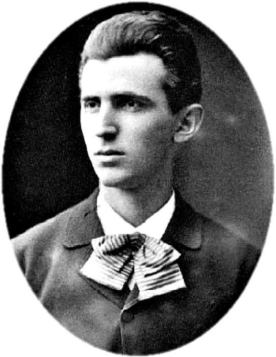 Retrato de un joven Nikola Tesla con tan solo 23 años. (Public Domain)
