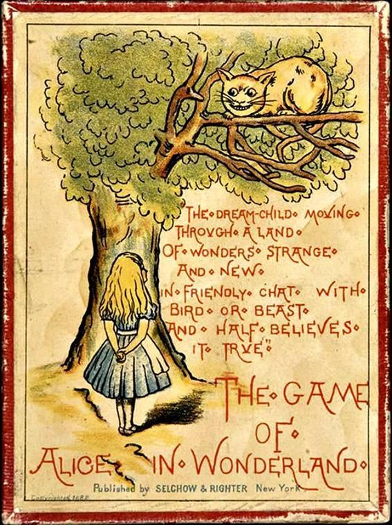 Caja del juego de Alicia en el País de las Maravillas puesto a la venta por Selchow & Righter en 1882. (Therealrobstone/CC BY-SA 3.0)