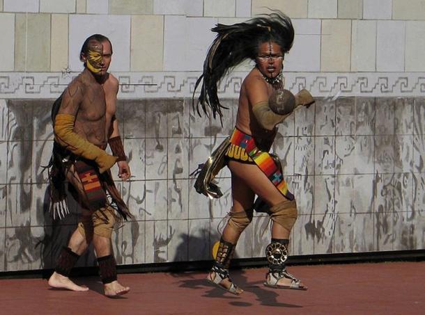 Actuales jugadores de Pok Ta Pok en acción(Wikimedia Commons)